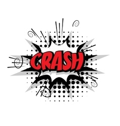 Comic text pop crash art bubble vector