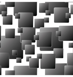 Dark seamless background of squares vector image vector image