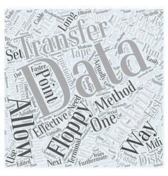 Data transfer methods of cnc word cloud concept vector