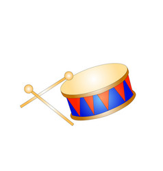 drum toy kid isolated icon vector image vector image
