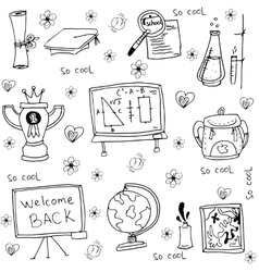 Element education hand draw in doodles vector