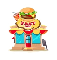 fast food Restaurant and vector image vector image
