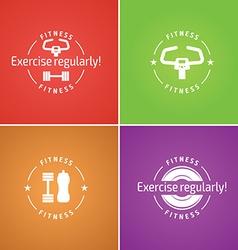 Fitness logo for design website infographic po vector
