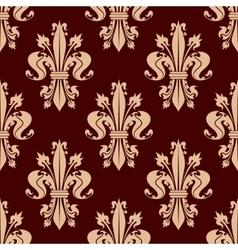 Fleur-de-lis floral seamless pattern background vector image vector image