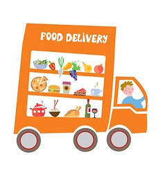 Food delivery cartoon vector