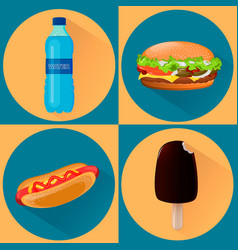 Food icons set of four vector