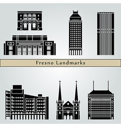 Fresno landmarks and monuments vector