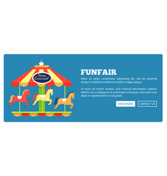 Funfair advertisement poster vector