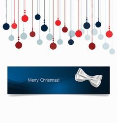 Holiday gift coupons with christmas balls vector