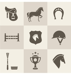 Horse icons vector image vector image