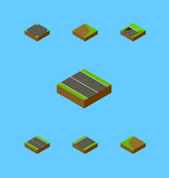 Isometric way set of crossroad rotation vector