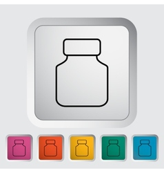 Jar icon vector image vector image