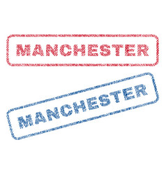 Manchester textile stamps vector