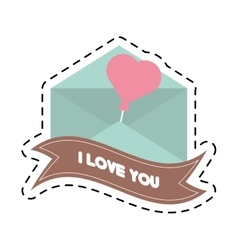 message i love you banner cut line vector image