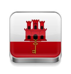 Metal icon of gibraltar vector