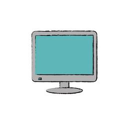 modern smart tv vector image vector image