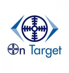 on target logo vector image