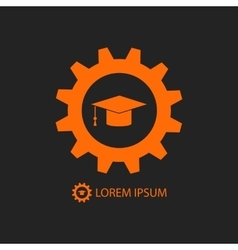 Orange engineering education logo vector