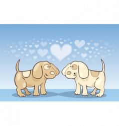 puppies in love vector image vector image