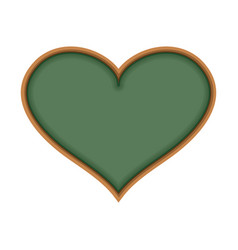 School board in form of heart i love learn i like vector