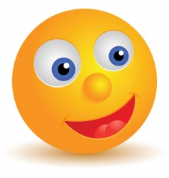 smiley icon vector image