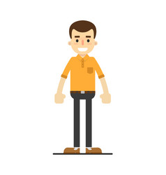 smiling young guy in shirt and pants vector image vector image