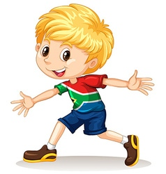 South african boy smiling vector