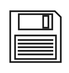 storage disk icon vector image