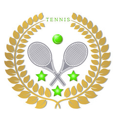the theme tennis vector image