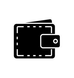 wallet case - finance icon vector image