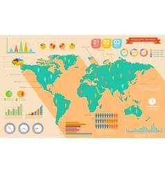 World map infographics vector
