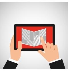 Reading news smartphone icon vector