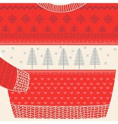 Christmas ornamental sweater card vector