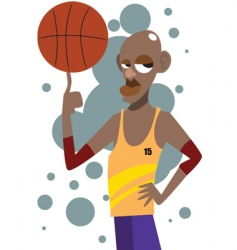 Basketball man vector