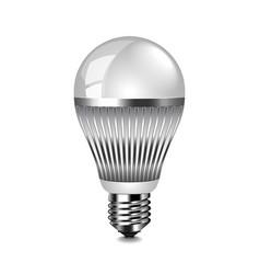 led light bulb isolated on white vector image