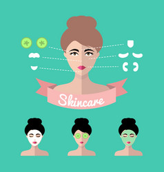 Infographics set of women icons with vector