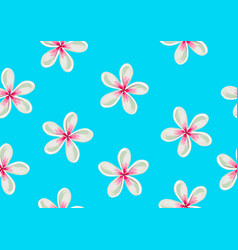 Seamless pattern with plumeria flowers decorative vector