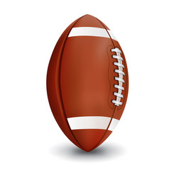 Realistic american football isolated on white vector