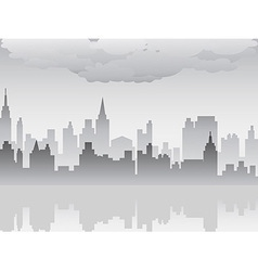 pollution city vector image