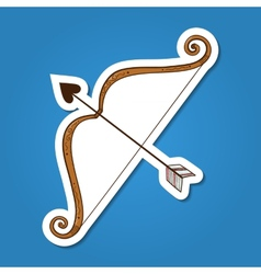Bow with love arrow vector