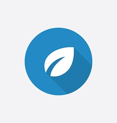 Plant flat blue simple icon with long shadow vector