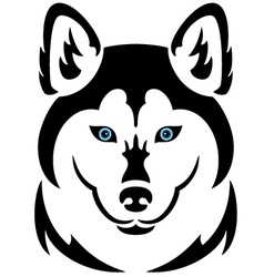 Husky dog tattoo vector image