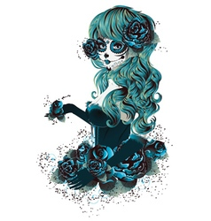 Day of Dead Girl6 vector image