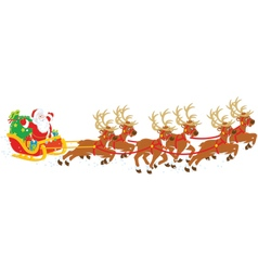 Christmas sleigh of santa claus vector