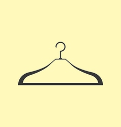Clothes hanger icon vector