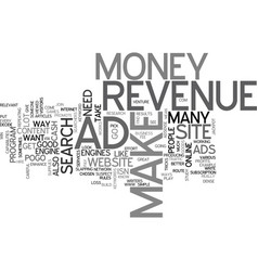 Ad revenue text word cloud concept vector
