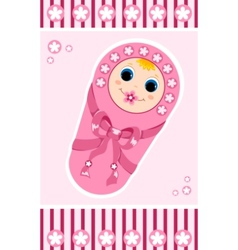 baby girl card 1 vector image vector image