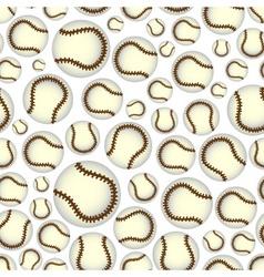 baseball balls seamless color sport pattern eps10 vector image vector image