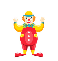 Cartoon clown isolated on white background party vector