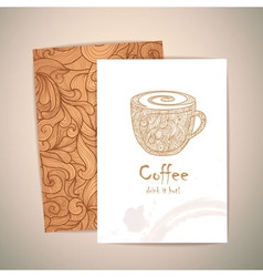 coffee concept design Corporate identity vector image